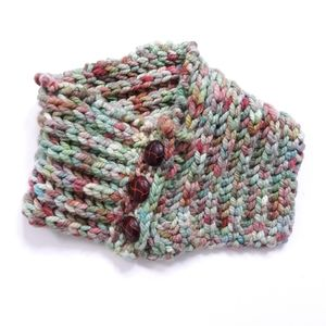 Handknit Sweater Neck Warmer Scarf